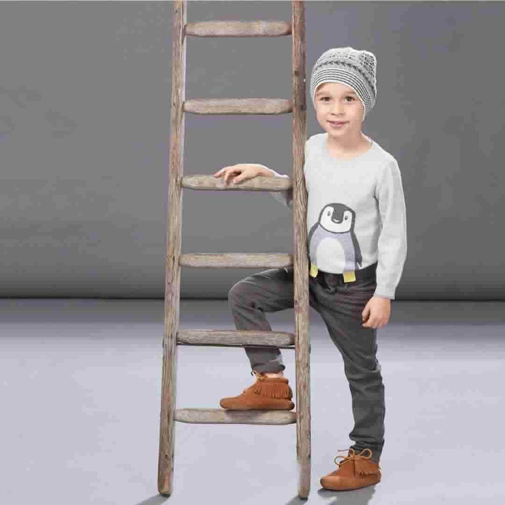 The Bonnie Mob - Dopple Intarsia Sweater Kids - Greys Lifestyle