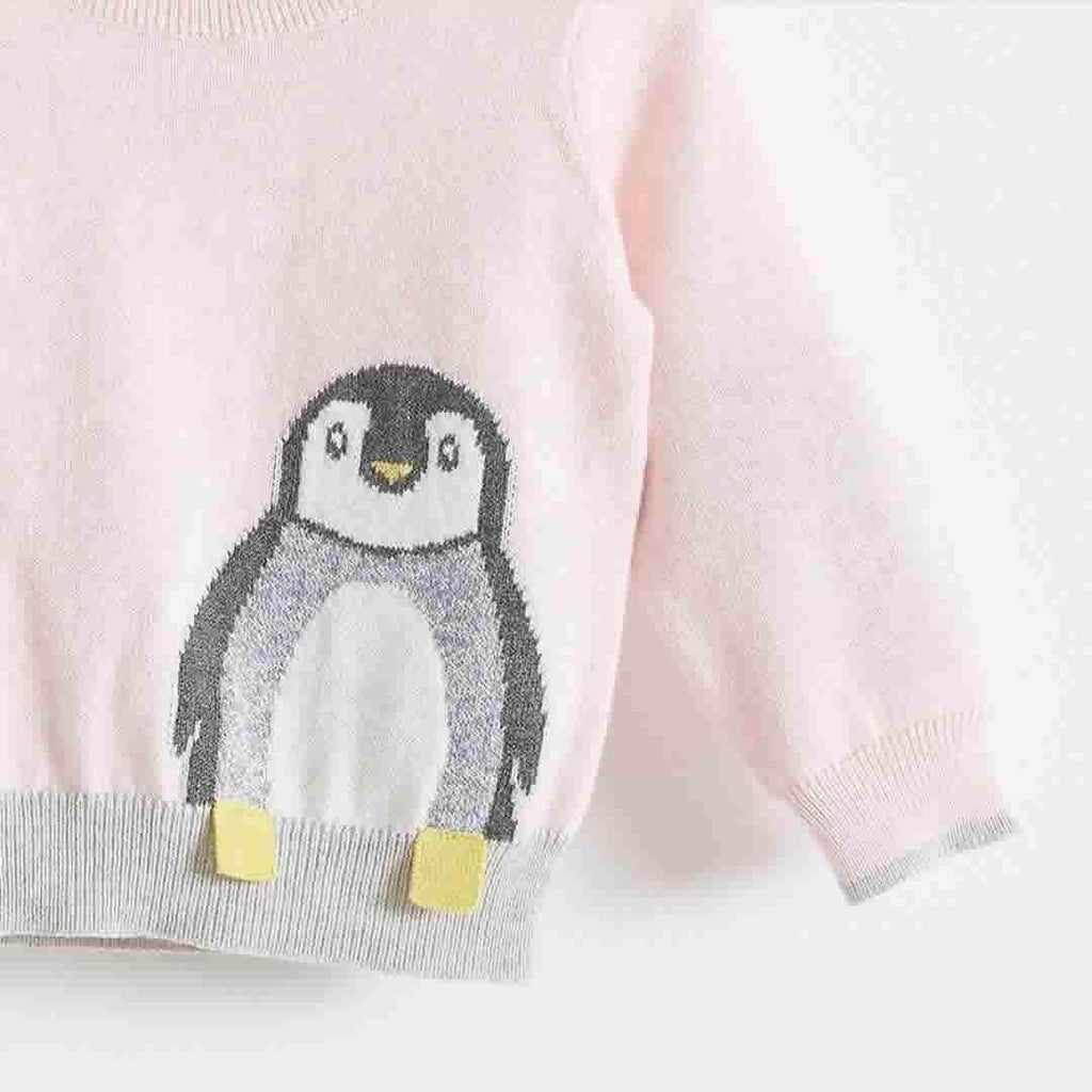 The Bonnie Mob Dopple Intarsia Sweater Kids in Pale Pinks