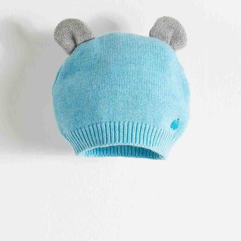 Bonnie Mob - Elky Hat with Ears - Pale Blues - Hats - Natural Baby Shower