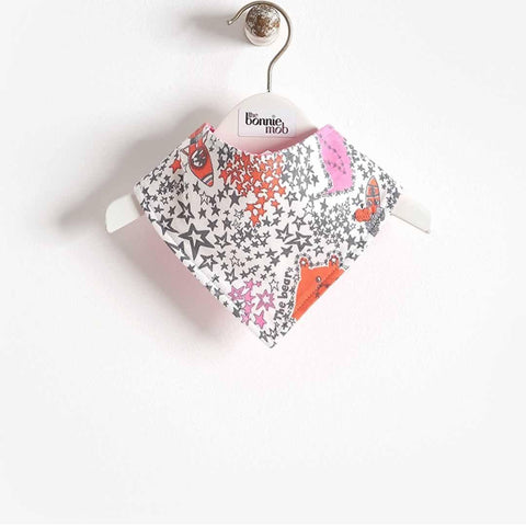 Bonnie Mob - Bay Dribble Bib - Pinks Night Sky - Bibs - Natural Baby Shower