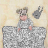 Bonnie Mob - Blaze Reversible Blanket - Greys Night Sky - Blankets - Natural Baby Shower