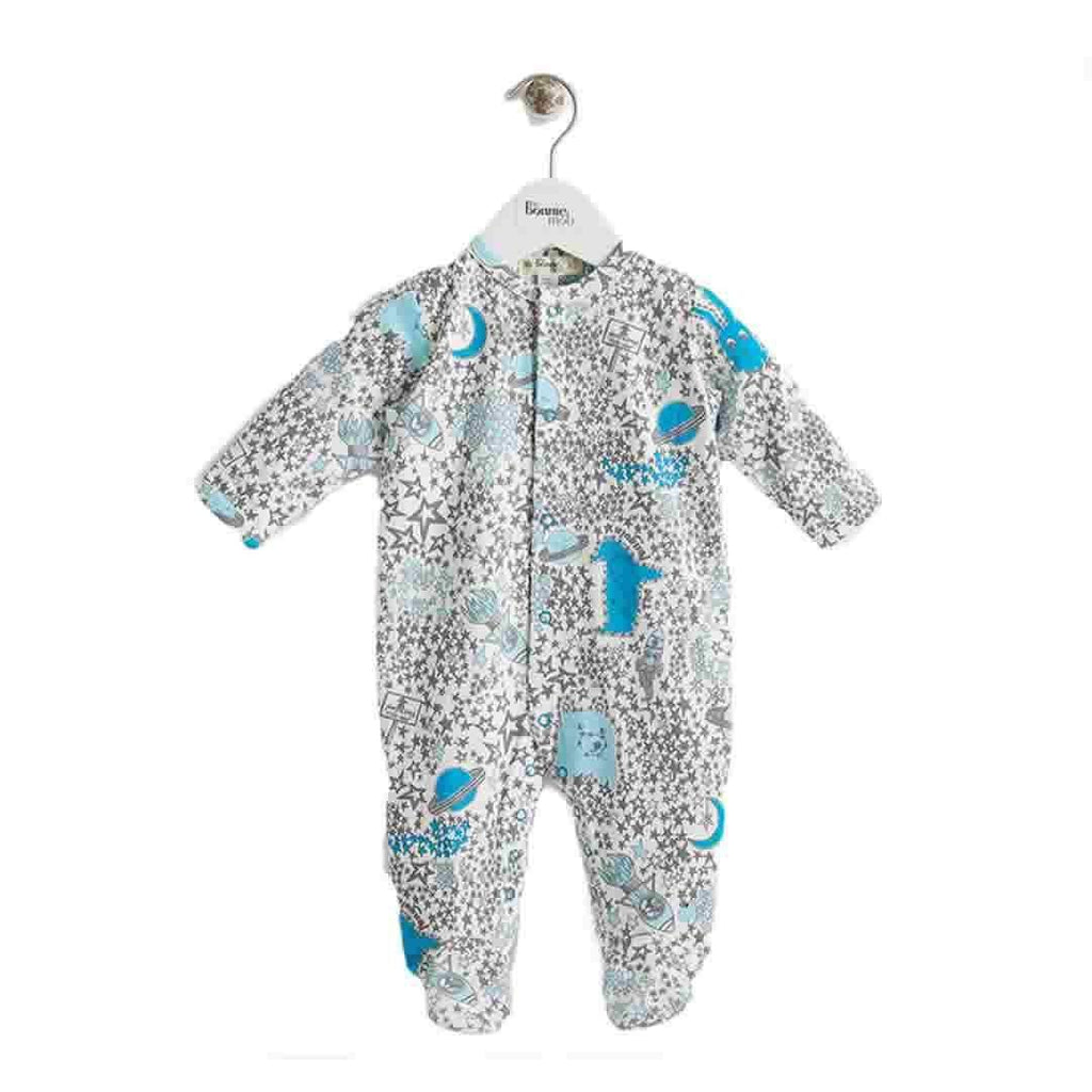 The Bonnie Mob Borealis Sleepsuit in Blues Night Sky