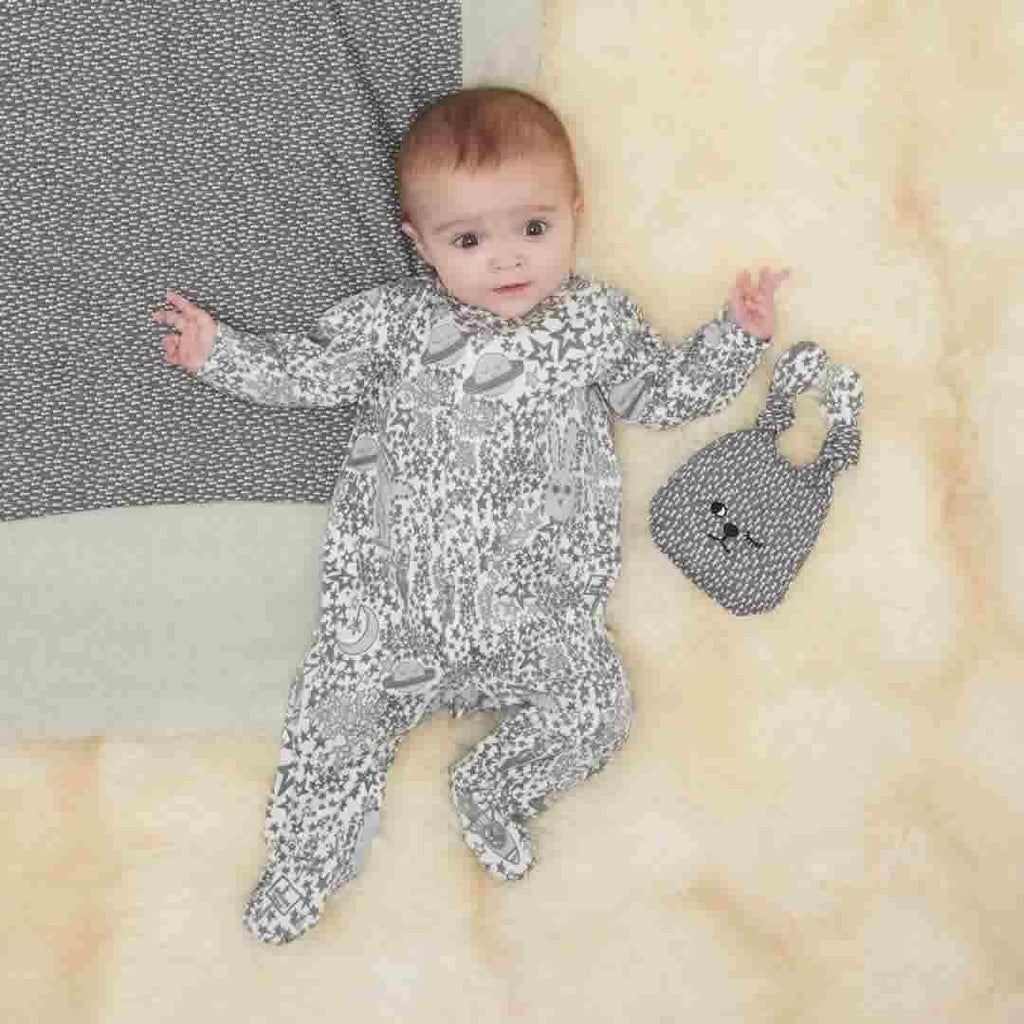 The Bonnie Mob Borealis Sleepsuit - Greys Night Sky Lifestyle