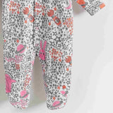 The Bonnie Mob Borealis Sleepsuit - Pinks Night Sky Detail