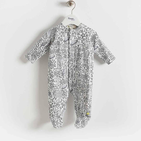 Bonnie Mob Borealis Sleepsuit - Greys Night Sky - Playsuits & Rompers - Natural Baby Shower