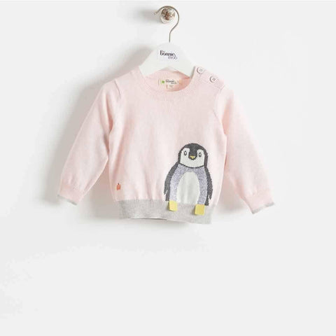 The Bonnie Mob Dopple Intarsia Sweater Kids - Pale Pinks