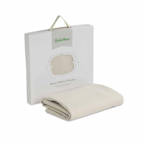 The Little Green Sheep - Organic Mattress Protector - Boori Cot Size 77x132cm - Mattress Protectors - Natural Baby Shower