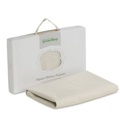 The Little Green Sheep Organic Crib Mattress Protector - 38x85cm - Sheets & Bedding - Natural Baby Shower