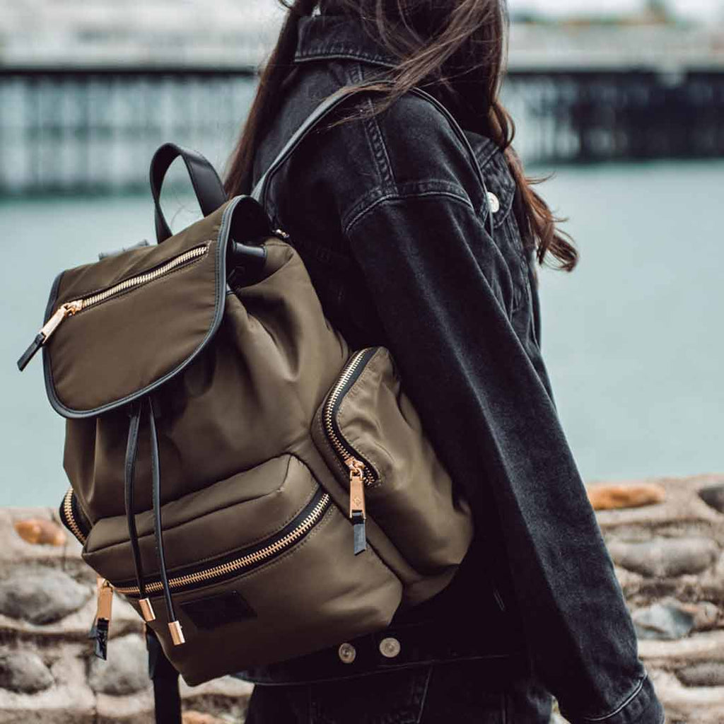 Tiba + Marl Kaspar Backpack - Khaki-Changing Bags- Natural Baby Shower