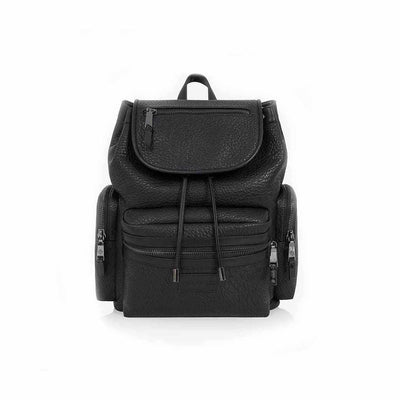 Tiba + Marl Kaspar Knapsack - Black Faux-Changing Bags- Natural Baby Shower