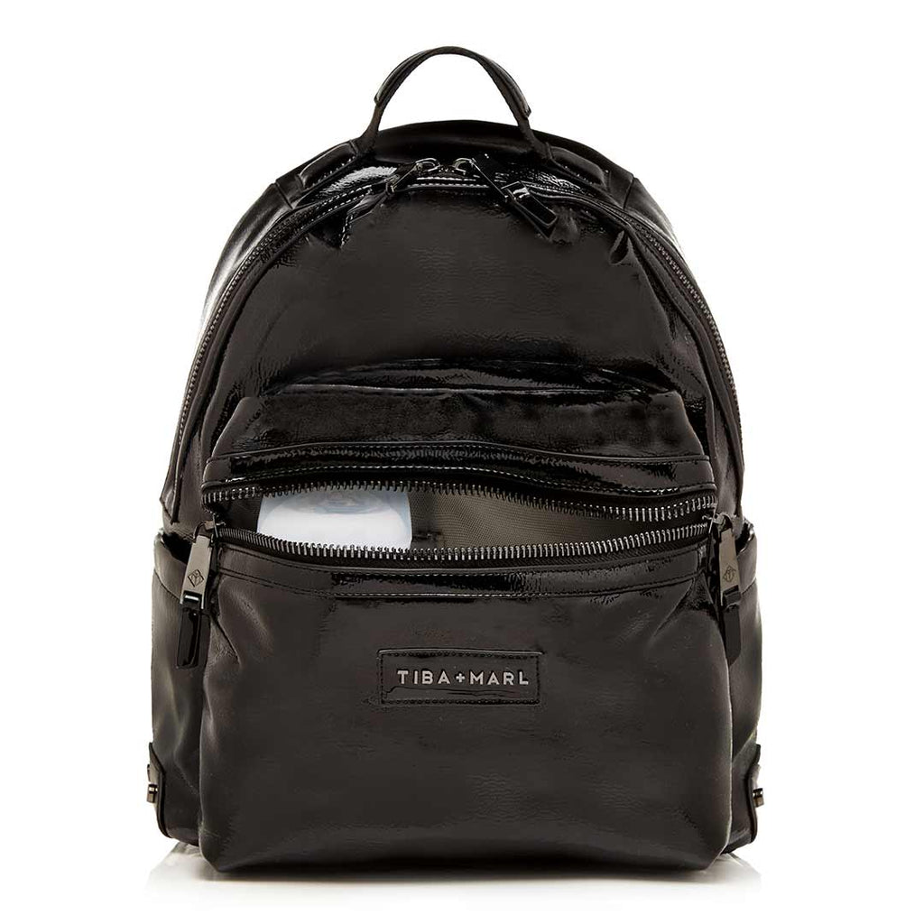 Tiba + Marl Miller Backpack - Black Patent Pocket