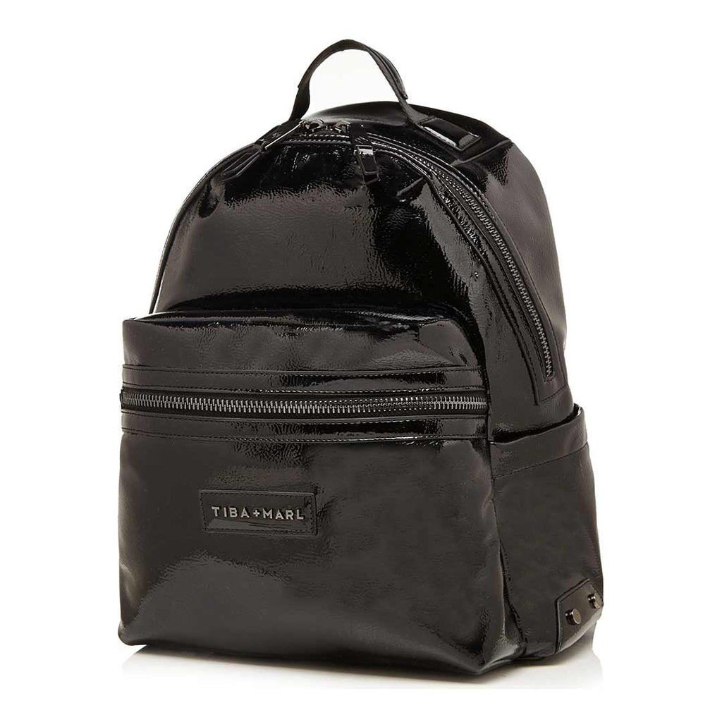Tiba + Marl Miller Backpack - Black Patent Side