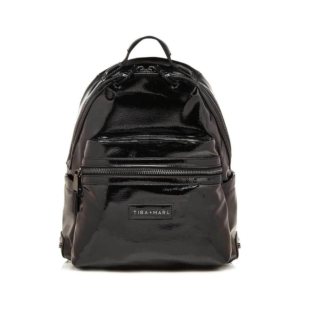 Tiba + Marl Miller Backpack - Black Patent