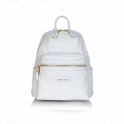 e636a0928a0a Tiba + Marl Miller Backpack - Grey Faux Leather-Changing Bags- Natural Baby  Shower ...