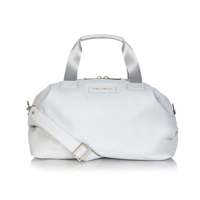 Tiba + Marl Raf Holdall - Grey Faux Leather-Changing Bags- Natural Baby Shower