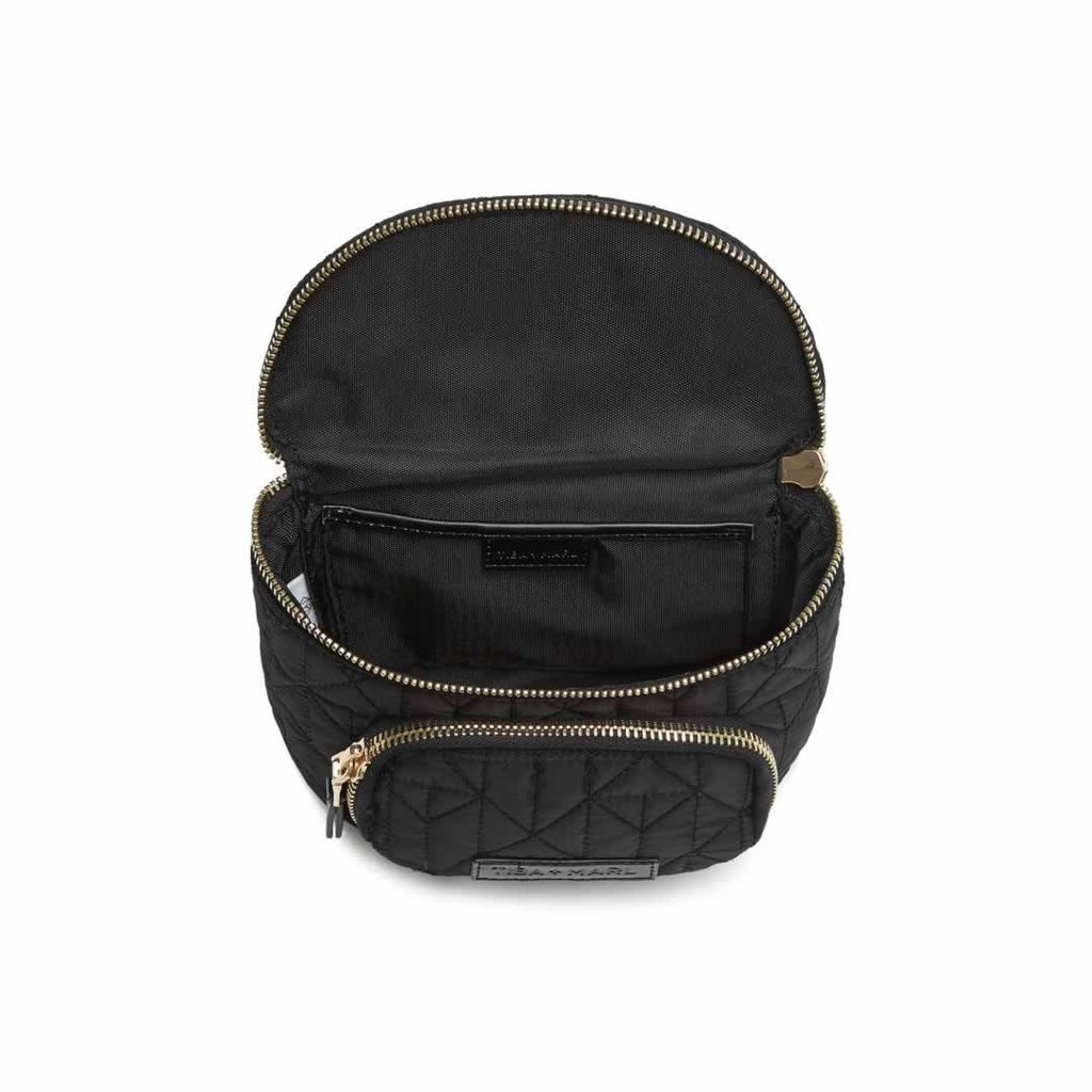 Tiba + Marl Delphine Bum Bag - Black Open