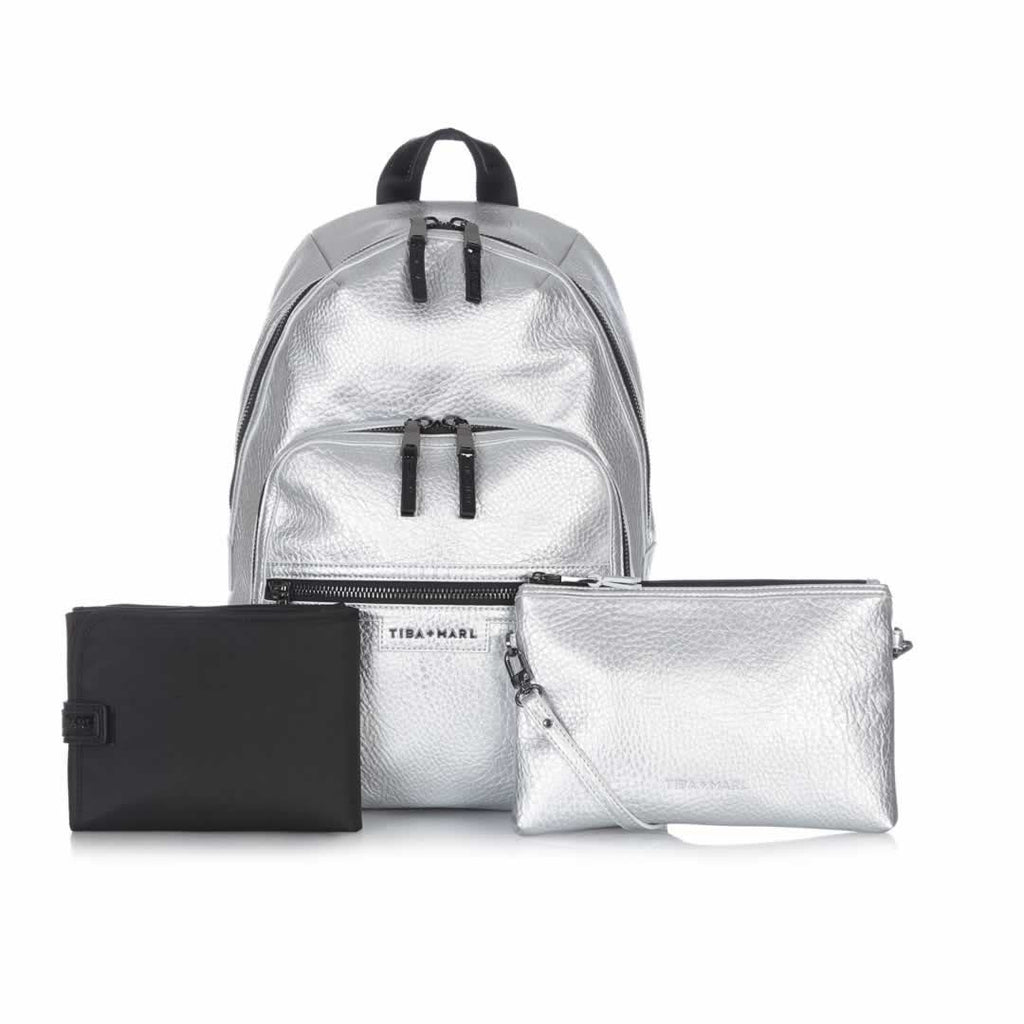 Tiba + Marl Elwood Backpack - Silver-Changing Bags- Natural Baby Shower
