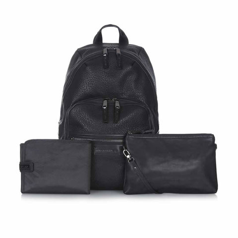 Tiba + Marl Elwood Backpack - Black-Changing Bags- Natural Baby Shower