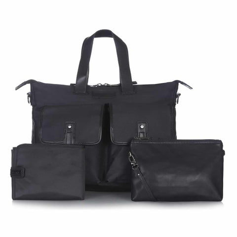Tiba + Marl James Satchel - Black - Changing Bags - Natural Baby Shower