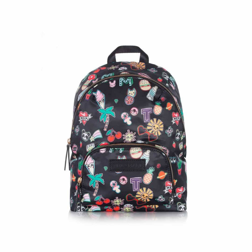 Tiba + Marl Mini Elwood Kids Backpack in Sticker Print