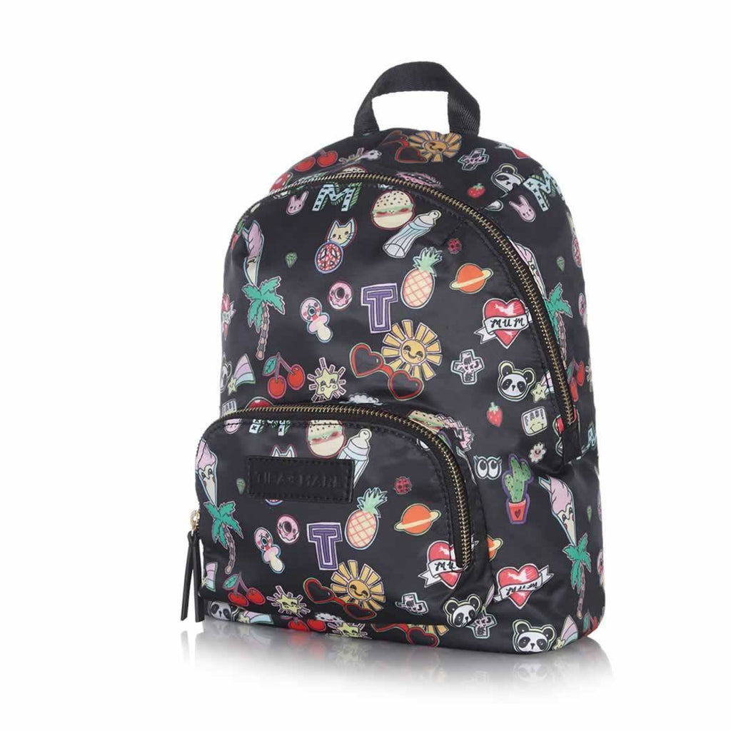 Tiba + Marl Mini Elwood Kids Backpack - Sticker Print Side