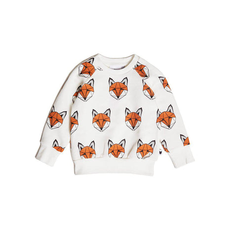 Tobias & The Bear Just Call Me Fox Sweatshirt - AW19-Long Sleeves- Natural Baby Shower