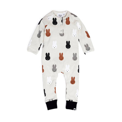 Tobias & The Bear Miffy & Friends Romper - White-Rompers- Natural Baby Shower