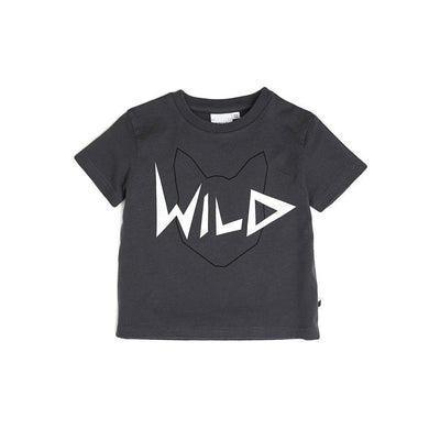 Tobias & The Bear Wild T-Shirt - Black-Short Sleeves- Natural Baby Shower