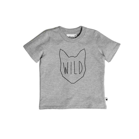 Tobias & The Bear Wild Tee-Short Sleeves- Natural Baby Shower