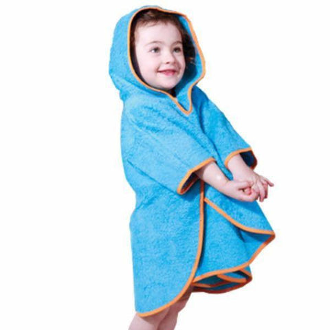 Cuddledry Swim Poncho Toddler - Orange Trim