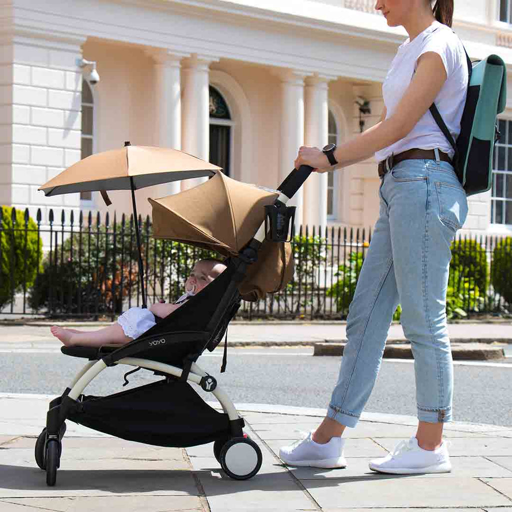 BABYZEN YOYO+ 6+ Stroller - White with Toffee-Strollers- Natural Baby Shower