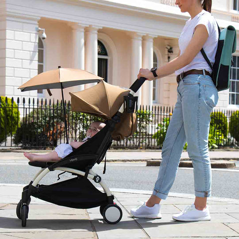 BABYZEN YOYO+ 6+ Stroller - Black with Toffee-Strollers- Natural Baby Shower