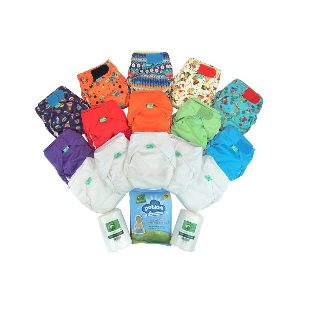 TotsBots Easyfit Everyday Kit-Nappy Packs- Natural Baby Shower