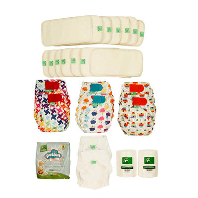 TotsBots Follow on PeeNut Kit-Nappy Packs-Size 2- Natural Baby Shower