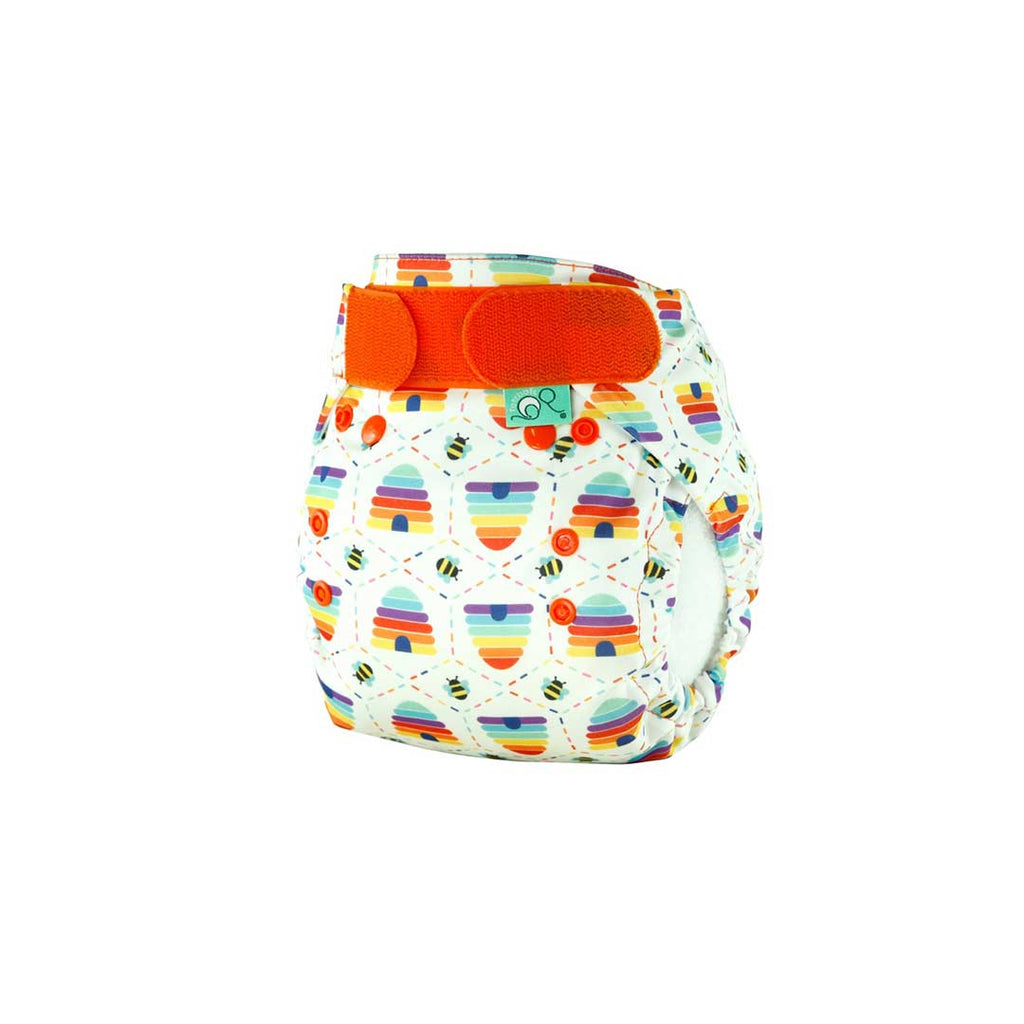 TotsBots PeeNut Wrap - Bee Kind-Nappy Wraps- Natural Baby Shower