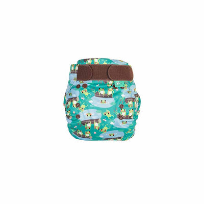 TotsBots PeeNut Wrap - Five Little Speckled Frogs-Nappy Wraps- Natural Baby Shower