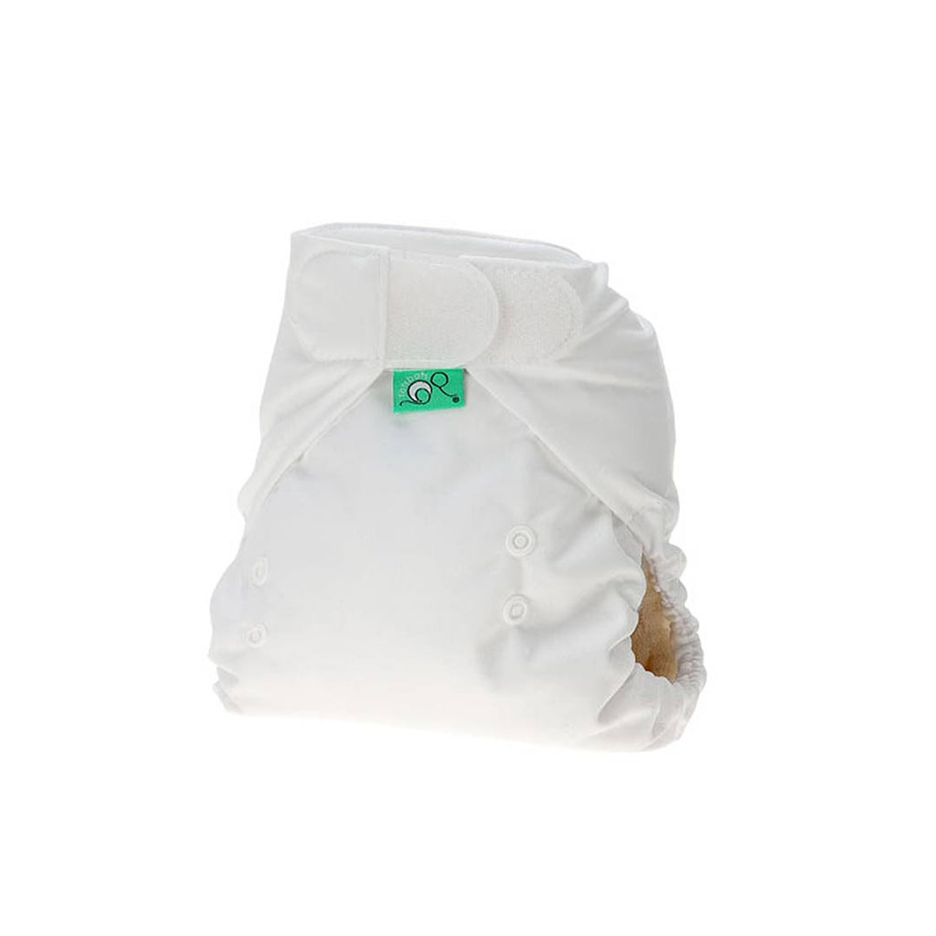 Nature Babies Classic Wrap Washable Nappy with Velcro Fastening White