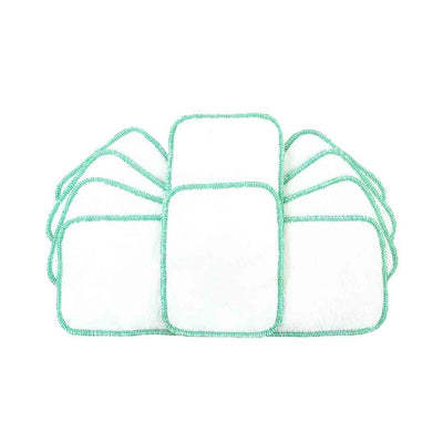 TotsBots Reusable Wipes - White - 10 Pack-Nappy Pads & Liners- Natural Baby Shower