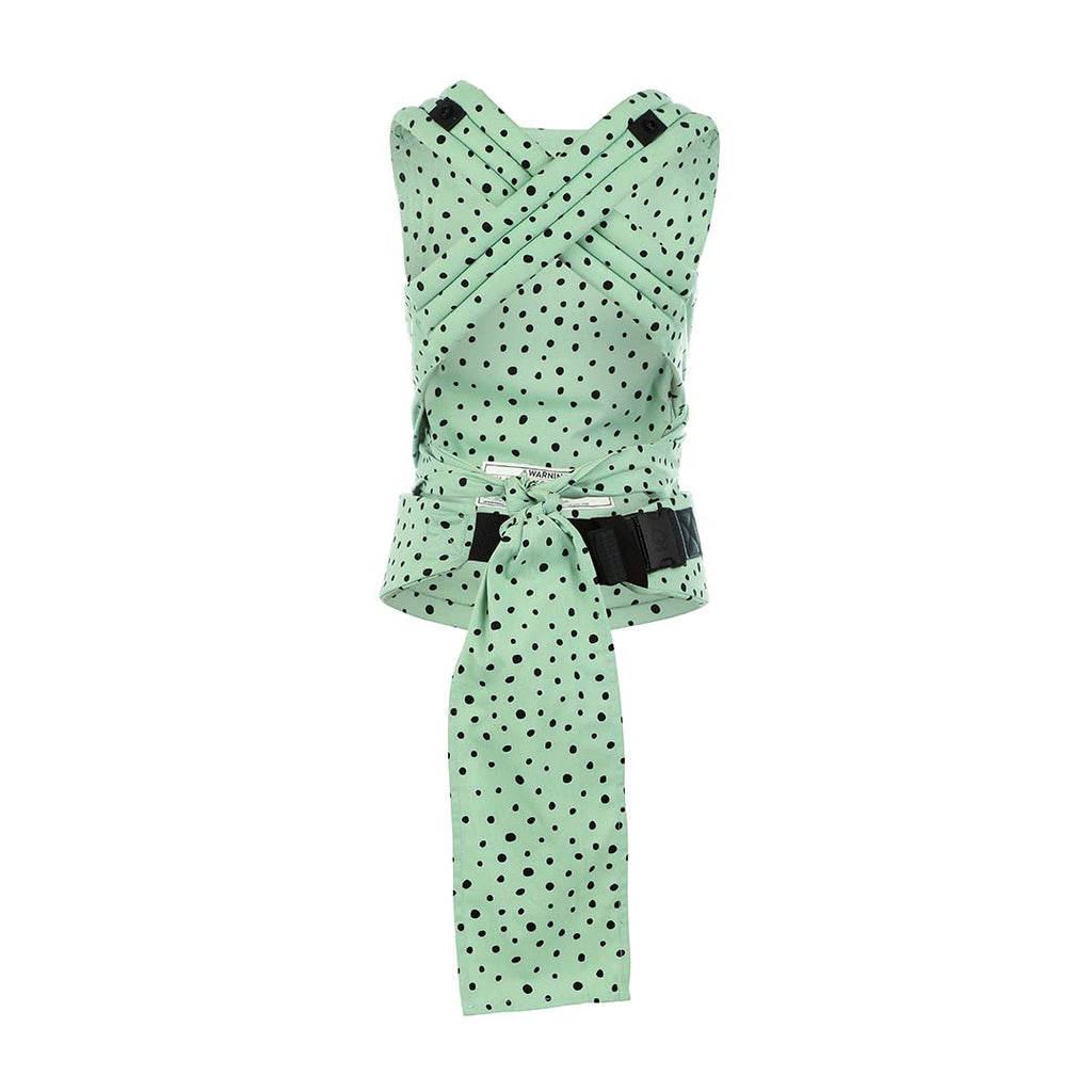 Baby Tula Explore Baby Carrier 3.2 20.4 kg Mint Chip Front and Back Carry Adjustable Newborn to Toddler Carrier Multiple Ergonomic Positions Mint with Black Dots Easy-to-Use Lightweight