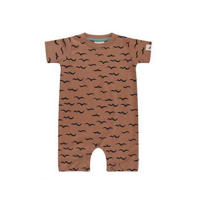 Turtledove London Air And Sea Romper - Clay-Rompers- Natural Baby Shower