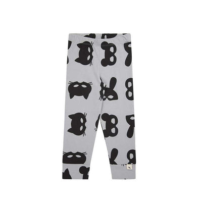 Turtledove London Animal Mask Legging - Grey-Leggings- Natural Baby Shower