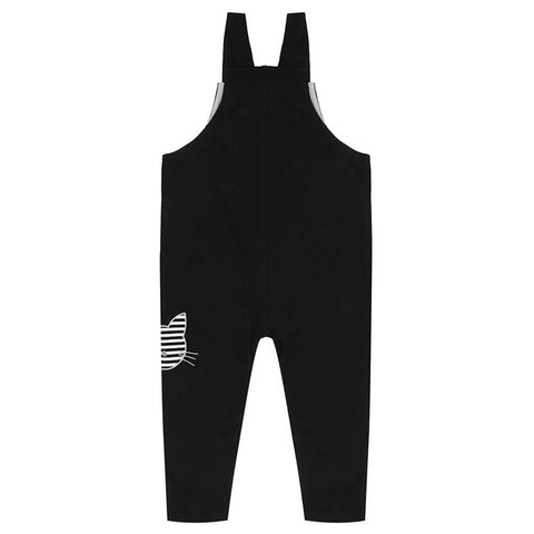 Turtledove London Applique Easy Fit Dungarees - Black-Dungarees- Natural Baby Shower