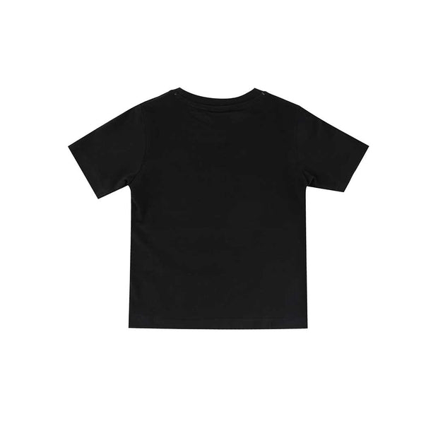 Turtledove London Besties Applique T-Shirt - Black-Short Sleeves- Natural Baby Shower