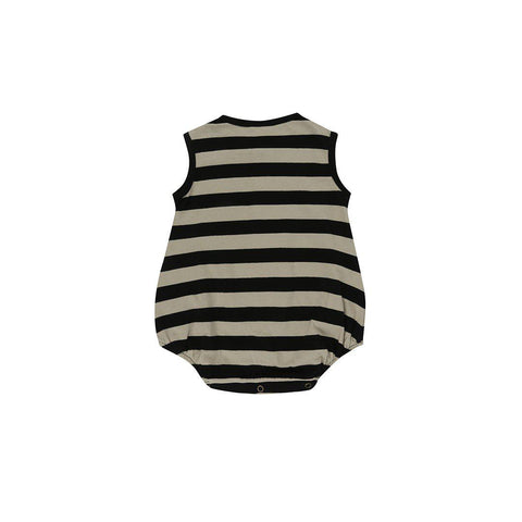 Turtledove London Bubble Romper - Wide Stripe-Rompers- Natural Baby Shower