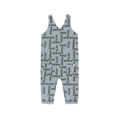 Turtledove London Deep V Dungarees - Woven Words-Dungarees- Natural Baby Shower