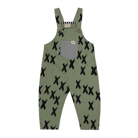 Turtledove London Easy Fit Dungarees - Kisses