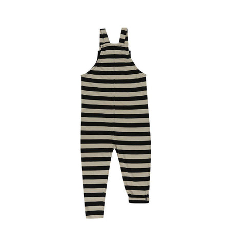 Turtledove London Easy Fit Dungarees - Wide Stripe-Dungarees- Natural Baby Shower