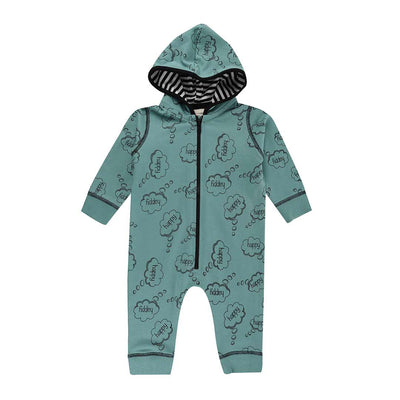 Turtledove London Happy Thoughts Outersuit - Sage-Rompers- Natural Baby Shower