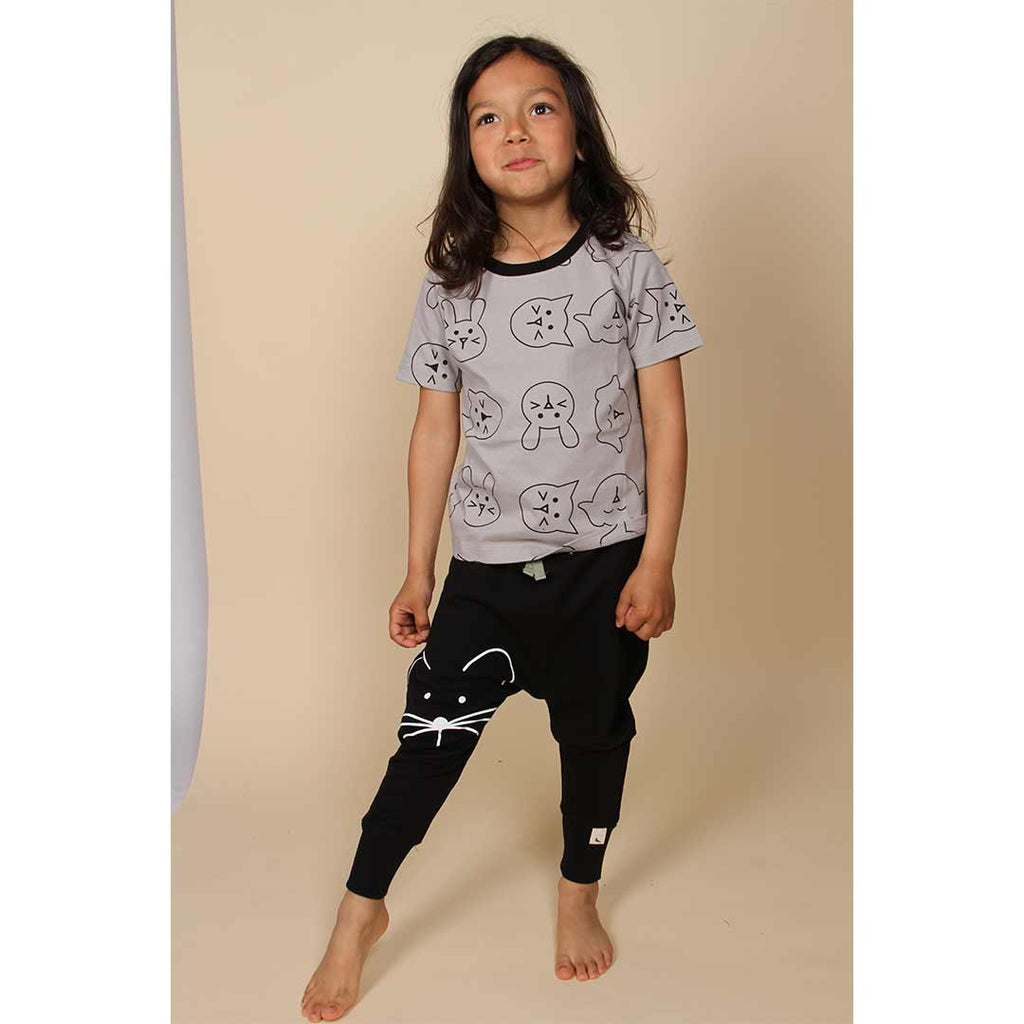 Turtledove London Harem Pants - Mouse Face-Pants- Natural Baby Shower