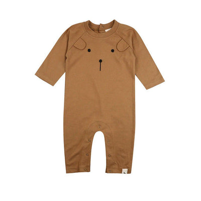 Turtledove London Honey Bear Playsuit - Honey-Rompers- Natural Baby Shower